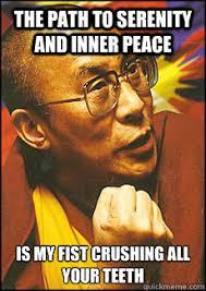 Dali Lama fist